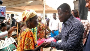 Unity Oil feast with widows in the Ashanti region
